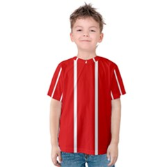 White And Red Stripes Kid s Cotton Tee