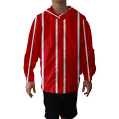 White And Red Stripes Hooded Wind Breaker (kids)