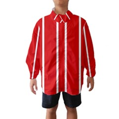 White And Red Stripes Wind Breaker (kids)