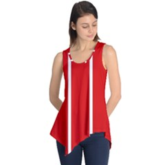 White and Red Stripes Sleeveless Tunic
