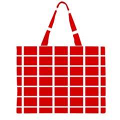 Red Cubes stripes Large Tote Bag