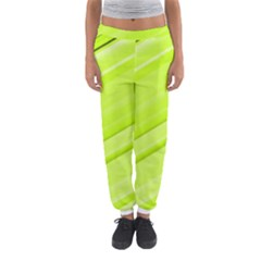 Bright Green Stripes Women s Jogger Sweatpants