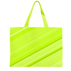 Bright Green Stripes Large Tote Bag