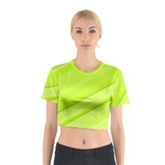 Bright Green Stripes Cotton Crop Top