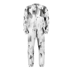 Gray And Silver Cubes Abstract Onepiece Jumpsuit (kids)