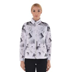 Gray and Silver Cubes Abstract Winterwear