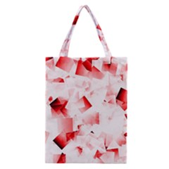 Modern Red Cubes Classic Tote Bag
