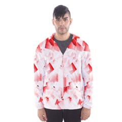 Modern Red Cubes Hooded Wind Breaker (Men)