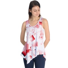 Modern Red Cubes Sleeveless Tunic