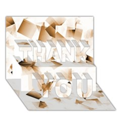 Modern Brown Cubes Thank You 3d Greeting Card (7x5)