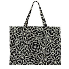 Polygons Pattern Print Large Tote Bag