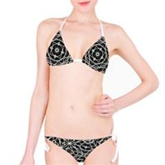 Polygons Pattern Print Bikini Set