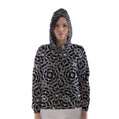 Polygons Pattern Print Hooded Wind Breaker (Women)