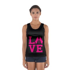 Colorguard Love in Hot Toss Pink Sport Tank Top