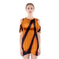 Butterfly design 1 Cutout Shoulder Dress