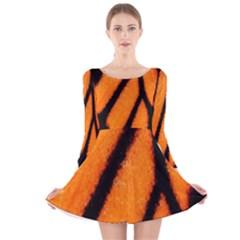 Butterfly design 1 Long Sleeve Velvet Skater Dress
