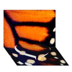 Butterfly Design 2 Heart Bottom 3d Greeting Card (7x5)