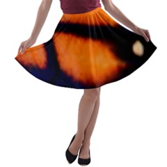 Butterfly Design 2 A-line Skater Skirt