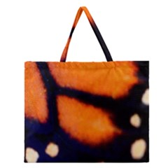 Butterfly Design 2 Zipper Large Tote Bag