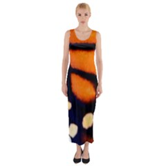Butterfly Design 2 Fitted Maxi Dress