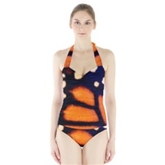 Butterfly Design 3 Women s Halter One Piece Swimsuit