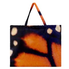 Butterfly Design 3 Zipper Large Tote Bag