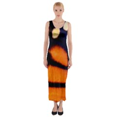 Butterfly Design 3 Fitted Maxi Dress