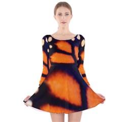 Butterfly Design 3 Long Sleeve Velvet Skater Dress