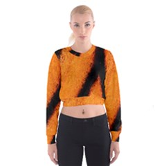 Butterfly Design 5 Women s Cropped Sweatshirt