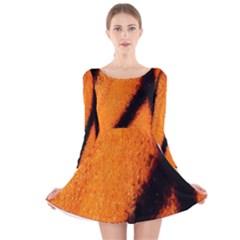 Butterfly Design 5 Long Sleeve Velvet Skater Dress