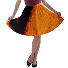 Butterfly Design 4 A-line Skater Skirt