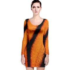 Butterfly Design 4 Long Sleeve Velvet Bodycon Dress