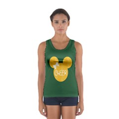 Pine Green & Yellow Cheer Mousesport Tank Top