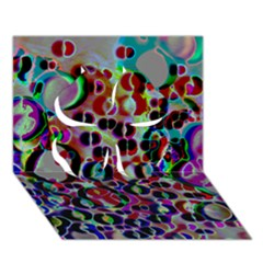 A Dream Of Bubbles 2 Clover 3d Greeting Card (7x5)