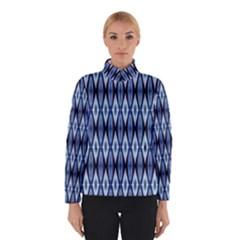 Blue White Diamond Pattern  Winterwear