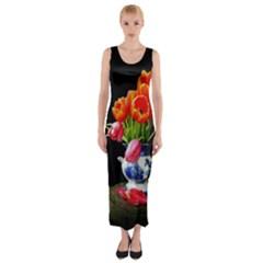 AL150316040 Fitted Maxi Dress