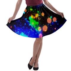 Cosmic Scenery A-line Skater Skirt