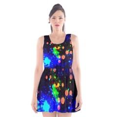 Cosmic Scenery Scoop Neck Skater Dress