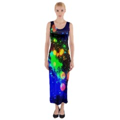 Cosmic Scenery Fitted Maxi Dress