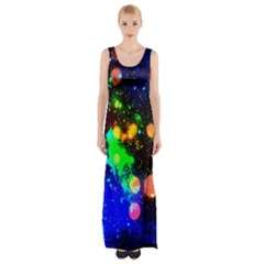 Cosmic Scenery Maxi Thigh Split Dress