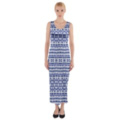 Isak Stein Fitted Maxi Dress