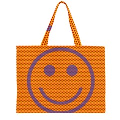 Comic Book Smiley Dots Large Tote Bag