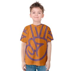 Comic Book Peace Dots Kid s Cotton Tee
