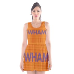 Comic Book Wham Dots Scoop Neck Skater Dress