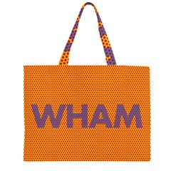 Comic Book Wham Dots Large Tote Bag