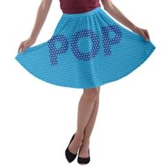 Comic Book Pop Dots A-line Skater Skirt