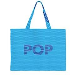 Comic Book Pop Dots Large Tote Bag