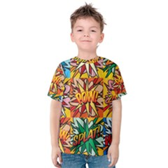 Comic Book Multiple Kid s Cotton Tee