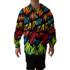 Comic Book Sounds Hooded Wind Breaker (Kids)
