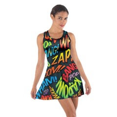 Comic Book Sounds Racerback Dresses